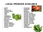 local produce available