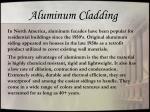 aluminum cladding