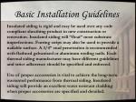 basic installation guidelines