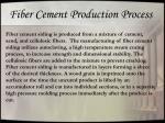 fiber cement production process