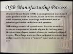 osb manufacturing process