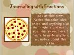 journaling with fractions