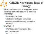 kabob knowledge base of biology