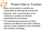 protein fold vs function