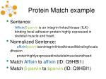 protein match example