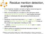 residue mention detection examples