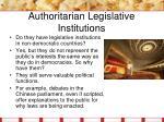 authoritarian legislative institutions