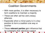 coalition governments