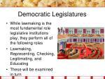 democratic legislatures