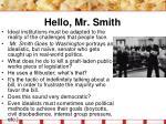 hello mr smith
