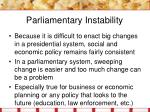 parliamentary instability