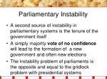 parliamentary instability1