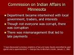 commission on indian affairs in minnesota