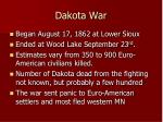 dakota war