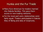 hunka and the fur trade