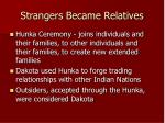 strangers became relatives