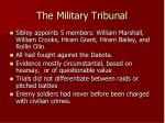 the military tribunal