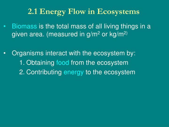 2 1 energy flow in ecosystems n.