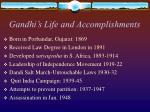 gandhi s life and accomplishments