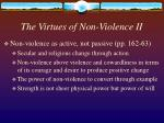 the virtues of non violence ii