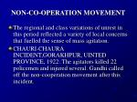 non co operation movement