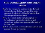 non cooperation movement 1922 24