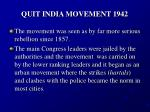 quit india movement 1942