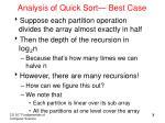 analysis of quick sort best case
