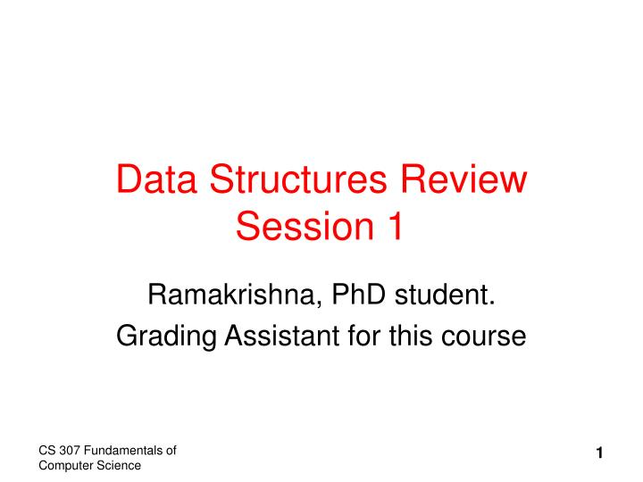 data structures review session 1 n.