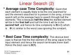 linear search 2