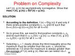 problem on complexity