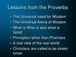 lessons from the proverbs
