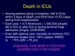 death in icus