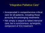 integrative palliative care