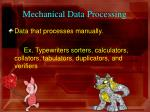 mechanical data processing