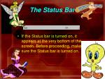 the status bar