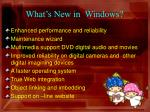 what s new in windows