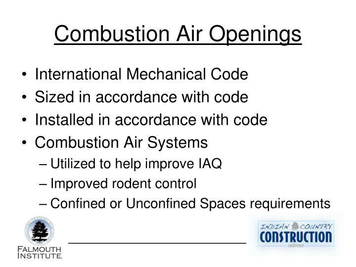 Combustion Air Openings