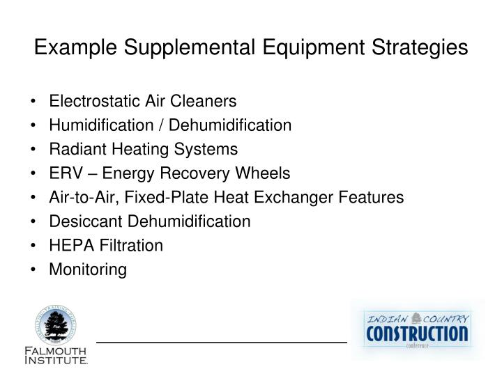 Example Supplemental Equipment Strategies