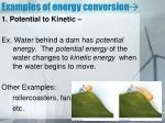 examples of energy conversion
