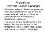 firewalking relevant science concepts