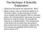 the necklace a scientific explanation