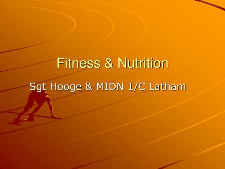 fitness nutrition n.
