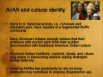 ai an and cultural identity