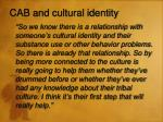 cab and cultural identity