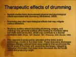 therapeutic effects of drumming