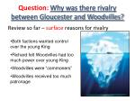 question why was there rivalry between gloucester and woodvilles