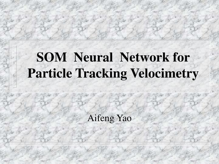 som neural network for particle tracking velocimetry n.