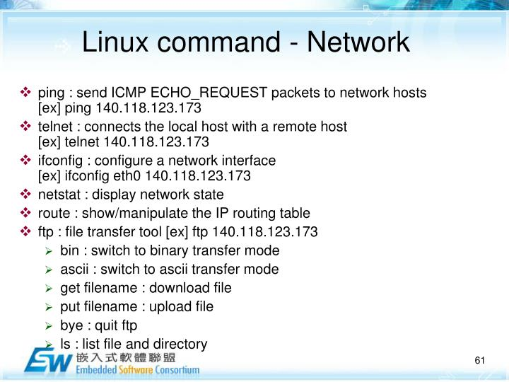 Linux command - Network