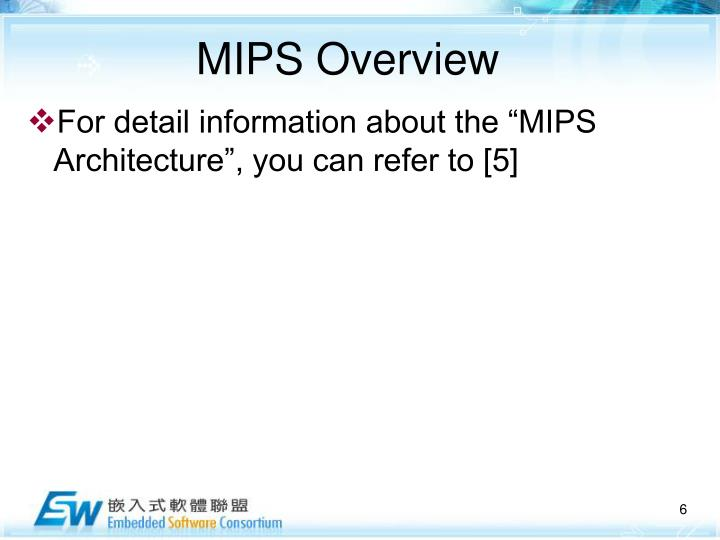 MIPS Overview